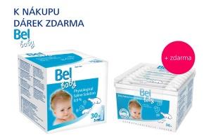 Bel baby Fyziologický roztok +  dárek ZDARMA Bel baby vatové tyčinky